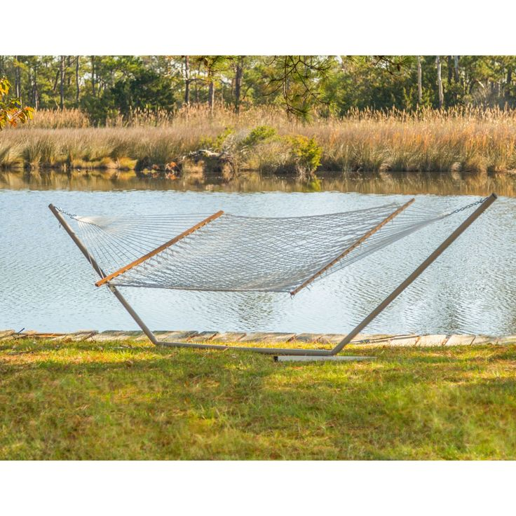 castaway large cotton rope hammock with stand by pawleys island hammocks - Pawleys Island Hammock