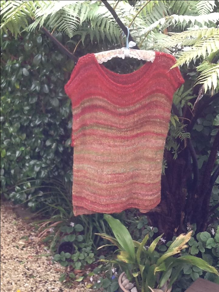 This is knitted from wool Sue dyed