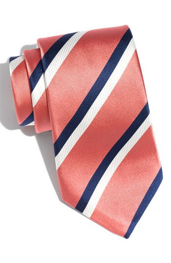 Coral and navy tie ... Wedding ideas for brides & bridesmaids, grooms & groomsmen, parents & planners ... https://itunes.apple.com/us/app/the-gold-wedding-planner/id498112599?ls=1=8 … plus how to organise an entire wedding, without overspending ♥ The Gold Wedding Planner iPhone App ♥