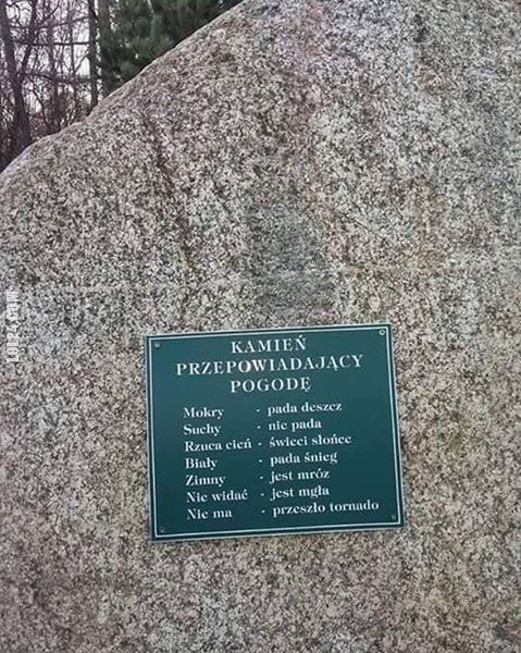 Kamień przepowiadający pogodę #kamień #prognoza #pogody