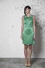 VICTORIA Dámské šaty z konopí a hedvábí - smaragdová - fair trade oblečení z biobavlny, bambusu, konopí, modalu, tencelu a merino, přírodní kosmetika, bambucké máslo, fairtrade bytové doplňky