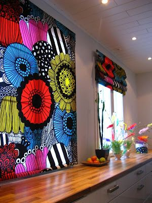 #kiitosmarimekko: Marimekko Siirtolapuutarha curtains @Jane O'Ruck: thought you would appreciate these.