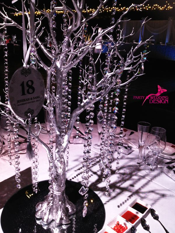 Wedding Crystal Tree at Peninsula - Atlantic Group (Docklands)