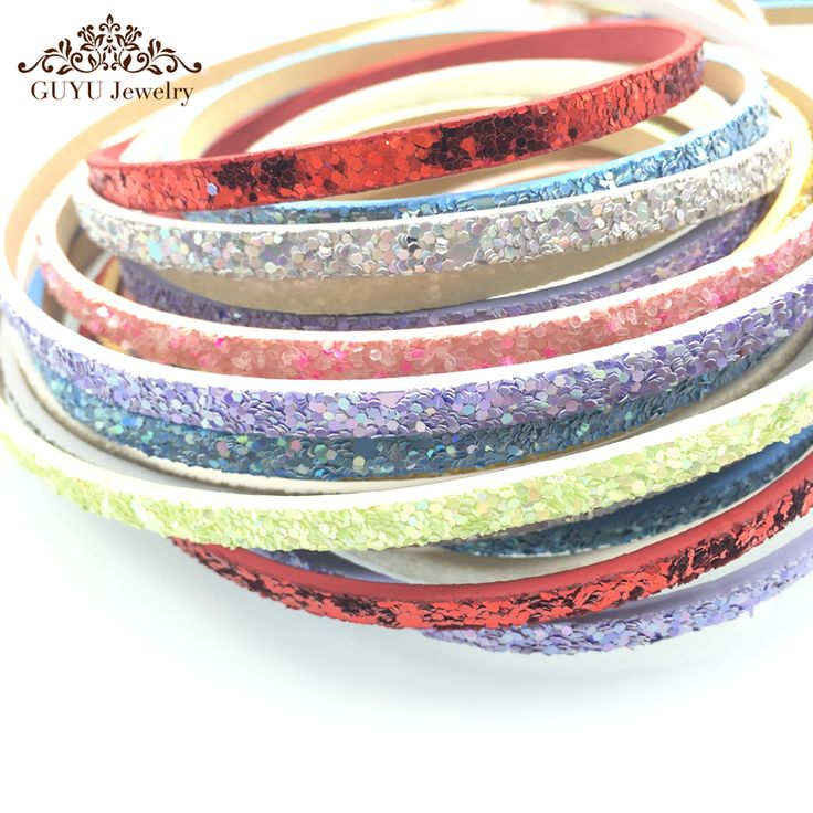 5mm Sequin leather cord/jewelry accessories/jewelry findings/hand made ** Details can be found by clicking on the image.