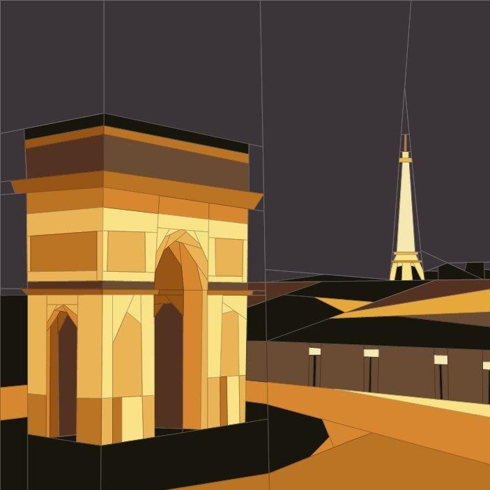 March BOM - Paris Paper Piecing Patterns quiltartdesigns.blogspot.com
