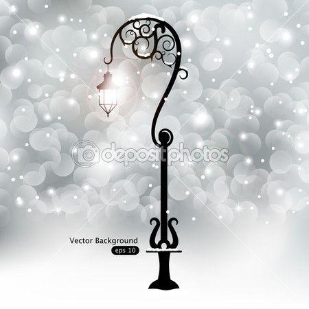 уличный фонарь — Векторная картинка #8406410