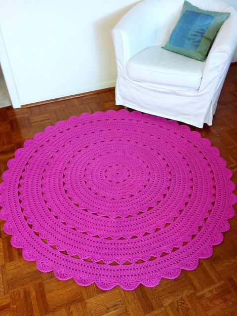 Vacation Production Part 1: Huge Hot Pink Doily Rug
