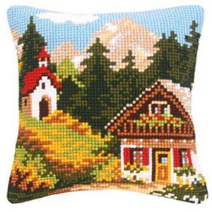 Набор для вышивания Подушки Vervaco Альпы-3. PN-0009130