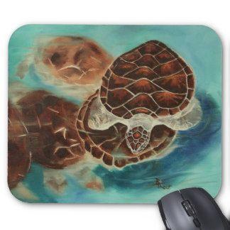 Temps Mousepad de tortue Tapis De Souris