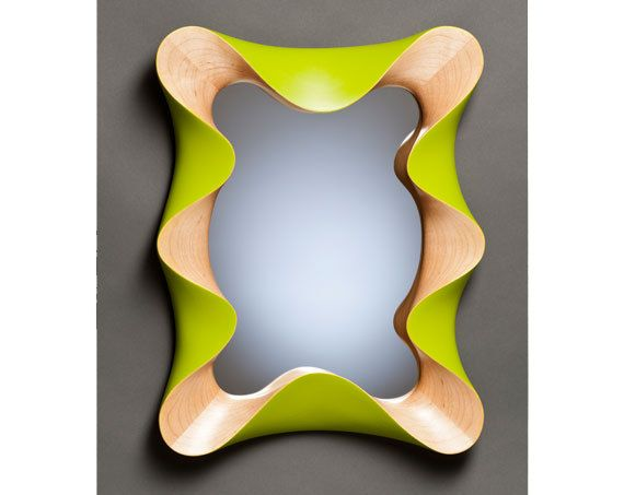 Maple Lime Taffy Mirror  wall mirror in by VermontWoodDesign
