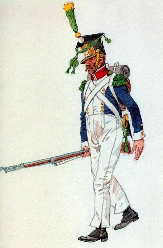 Private the company of voltigeurs 1813. Fig. H. Knötel.
