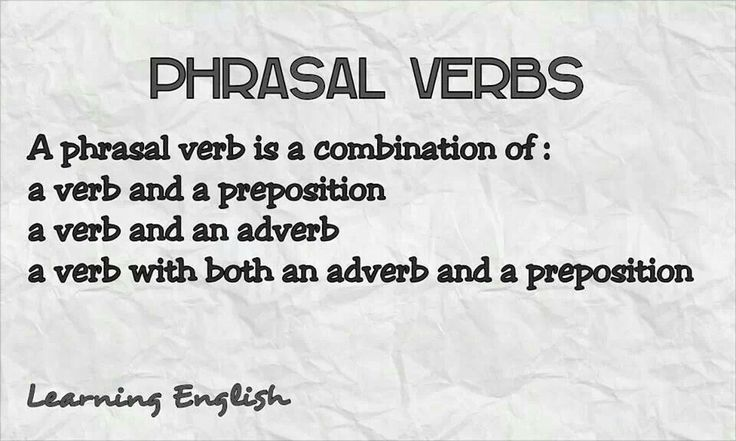 phrasal verbs thesis