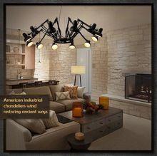 Moda moderna del ragno del pendente lampadario art deco ferro personalizzato retrattile lampada ragno 12 teste senza lampadine a led(China (Mainland))