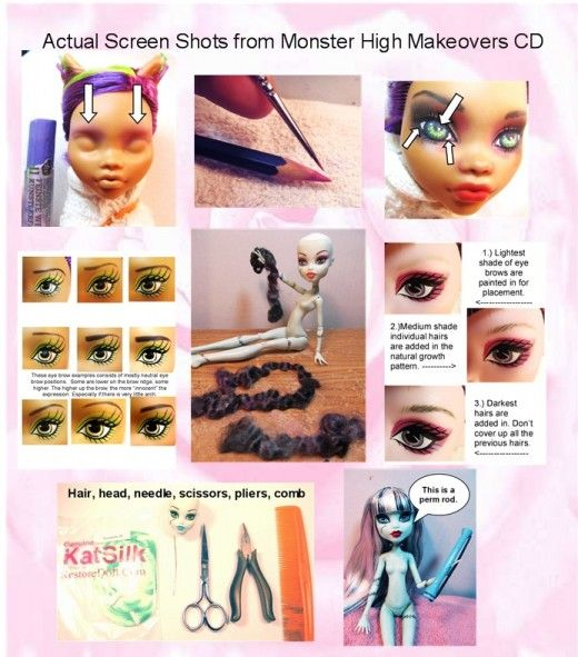 before and after bratz doll repaints | Monster High Doll Custom Repaint Tutorial in my Etsy Store