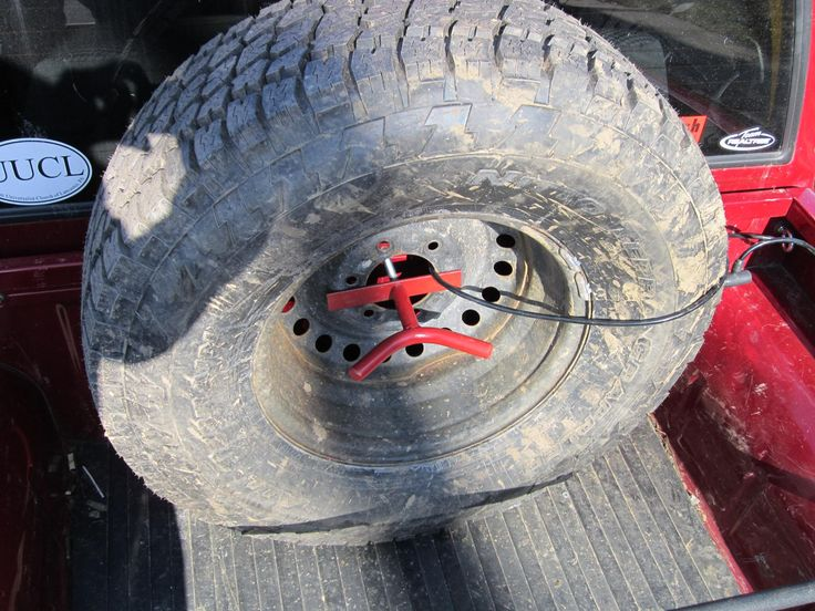 DIY Mount for spare tire in the truck bed - Nissan ...