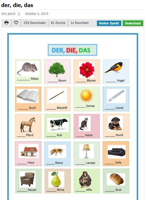 iSLCOLLECTIVE - umfangreiche Sammlung an Arbeitsblättern und Präsentationen für den DaF-Unterricht.