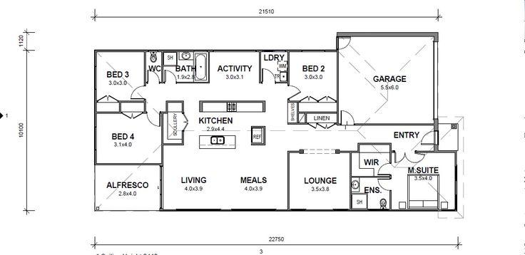 17 best future floor plan options images on pinterest floor plans coningham 232 our designs gj gardner homes ballarat malvernweather Gallery