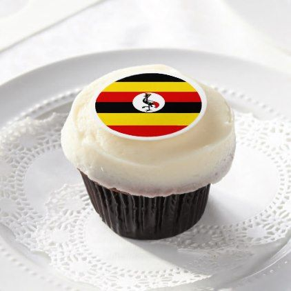 Uganda Flag Edible Frosting Rounds - kitchen gifts diy ideas decor special unique individual customized