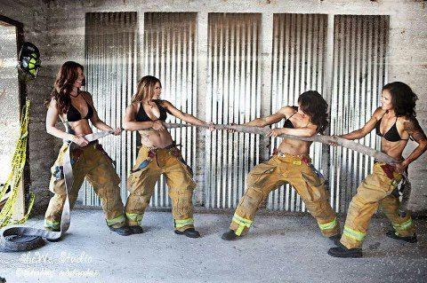 Firefighters? Women? Firefighter women?? Yes.