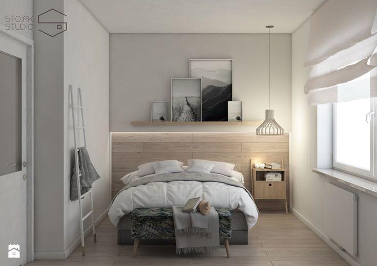 Projekt przytulnego mieszkania - Sypialnia, styl nowoczesny - zdjęcie od Stojak Studio