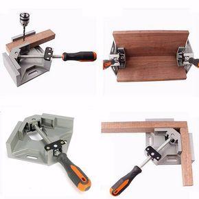 90 Degree esquina ángulo recto carburo Vice abrazaderas Clip DIY Photo Frame acuario muebles marco cartabones dobles herramientas