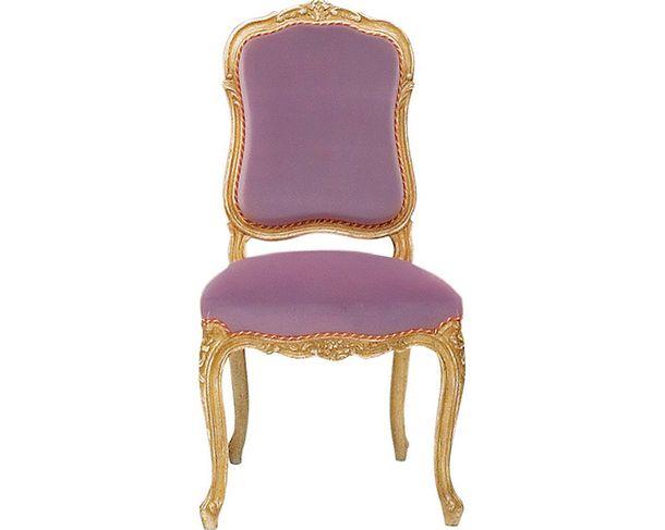 Изогнутые линии: прямые линии в мебели рококо полностью отсутствуют: углы прямоугольной спинки стула Royamont в стиле Людовика XV сглажены, ее бока вогнуты, ножки тоже имеют изящный изгиб.
