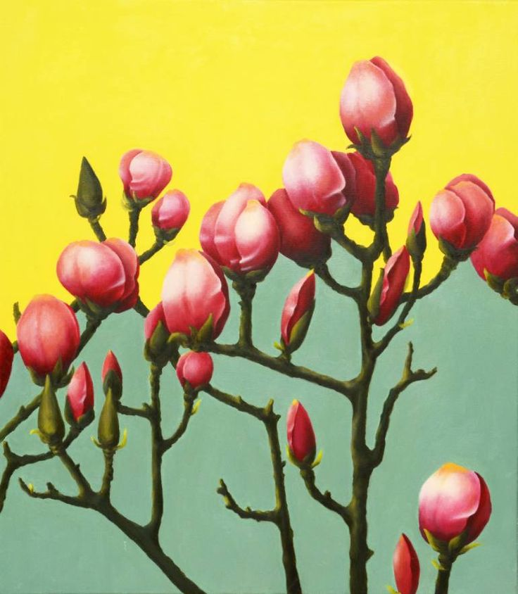 "Saatchi Art Artist Alexandra Calin; Painting, ""Magnolia Branch"" #art"