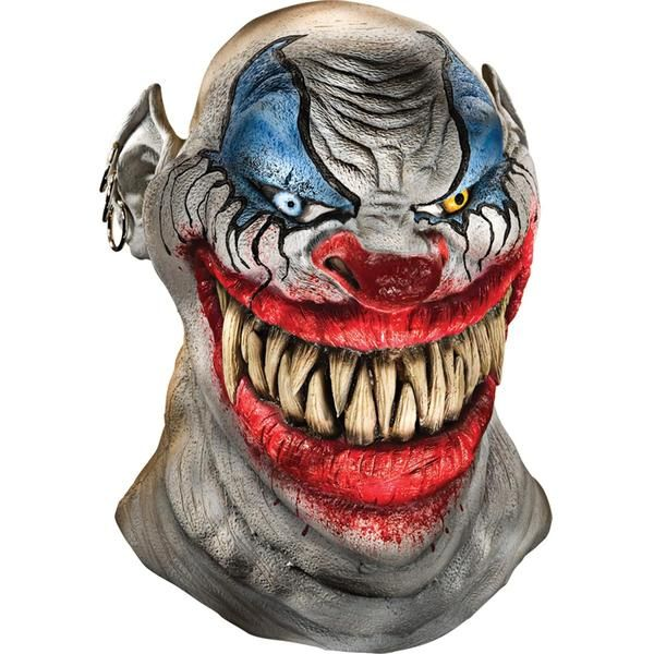 Full over-the head latex scary clown mask with a big grin!Box Dimensions (in Inches)Length : 14.00Width : 12.00Height : 4.00