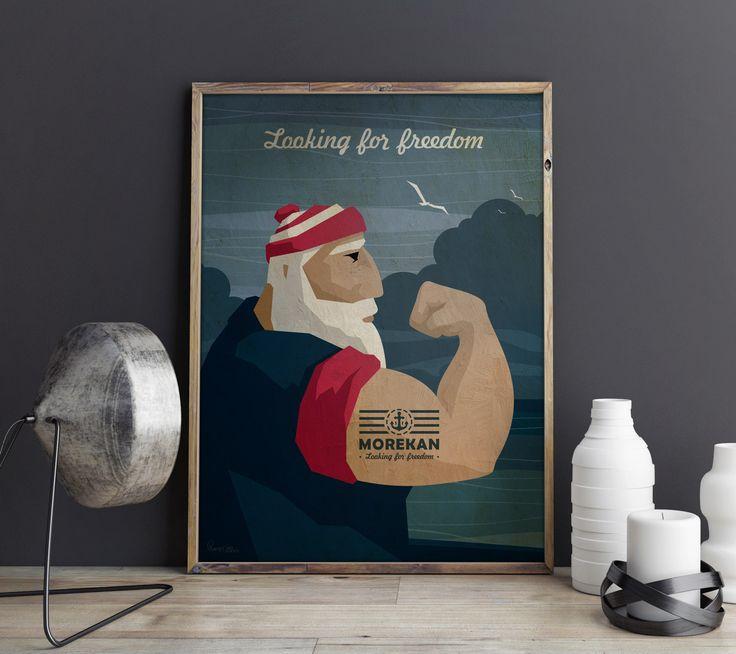 Постеры Morekan Bellomoro разных форматов А3 - А2 - А1 и больше... Отпечатаны на плотной матовой бумаге. Упакованы в тубусы. Цена 890 - 1090 - 1390 руб. Есть и подарочные варианты под стеклом в стильной раме - от 1800 р. Доставка по России и самовывоз в Москве. #постеры #принты #иллюстрации #дизайн #подарки #модарокему #чтоподарить #моряк #капитан #морскойстиль #мужскиеподарки #стильныевещи #bellomoro #morekan