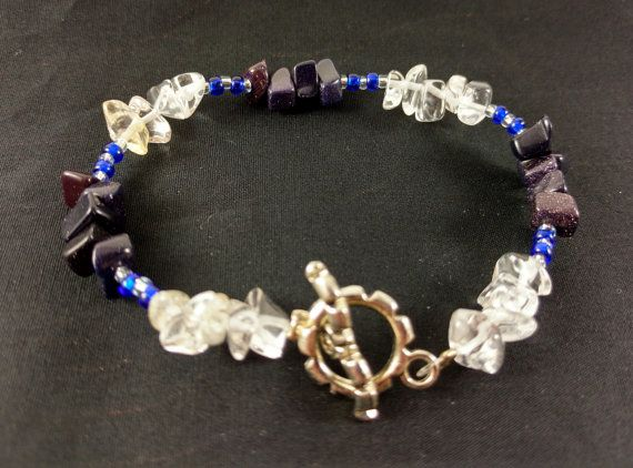 Handmade Crystal Bracelet for Insight and Intuition Energy