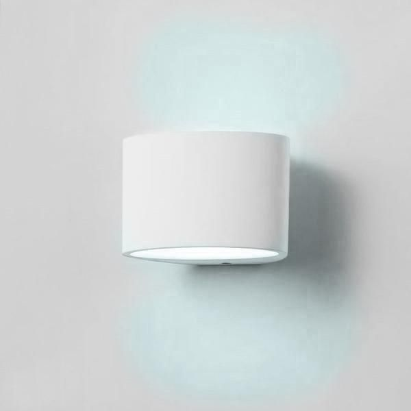 Small Plaster LED Wall Light - Cool White