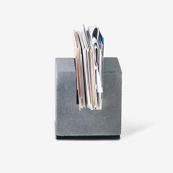 Korn Produkte Block für Businesskarten aus Beton   Business card/letter holder