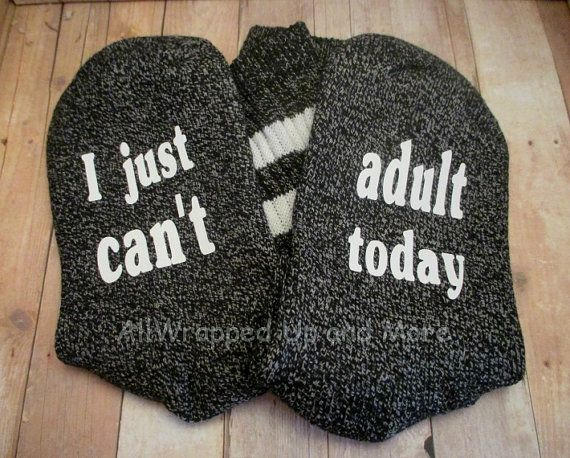Socks with Sayings. If you can read this by allwrappedupandmore
