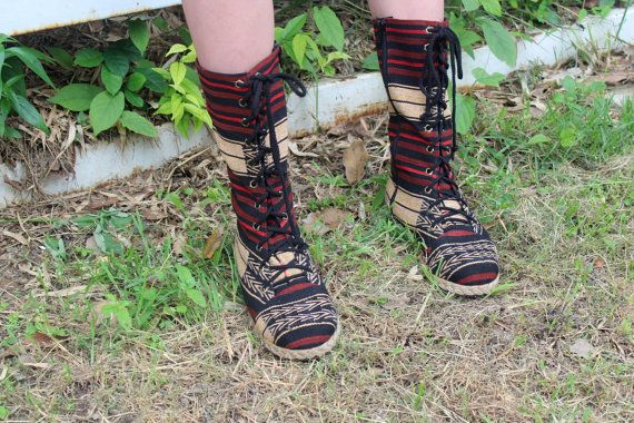 Tribal Women's Combat Boots Ethnic Naga di SiameseDreamDesign
