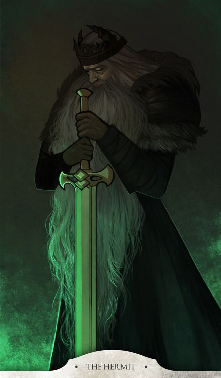 THE HERMIT - KING VENDRICK. Dark Souls 2 Tarot Cards. steftastan.com