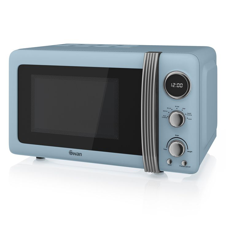 Swan Retro Digital Microwave 20 Litre 800 Watt Blue