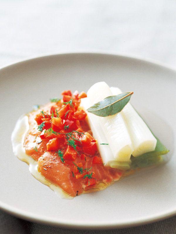 サーモンのマリネと長ねぎの白ワイン煮|洋食|長尾智子|レシピ