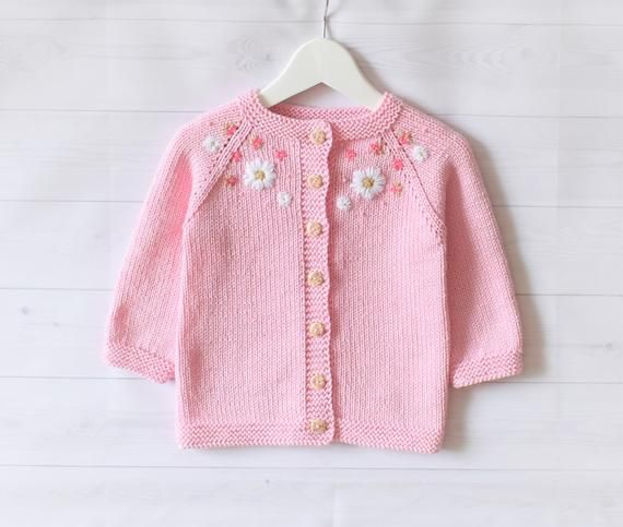 Toddler Infant Baby Girls Cardigan Sweater Long Sleeve Button Down Knitted Outwear Solid Color Knit Top Spring Jacket