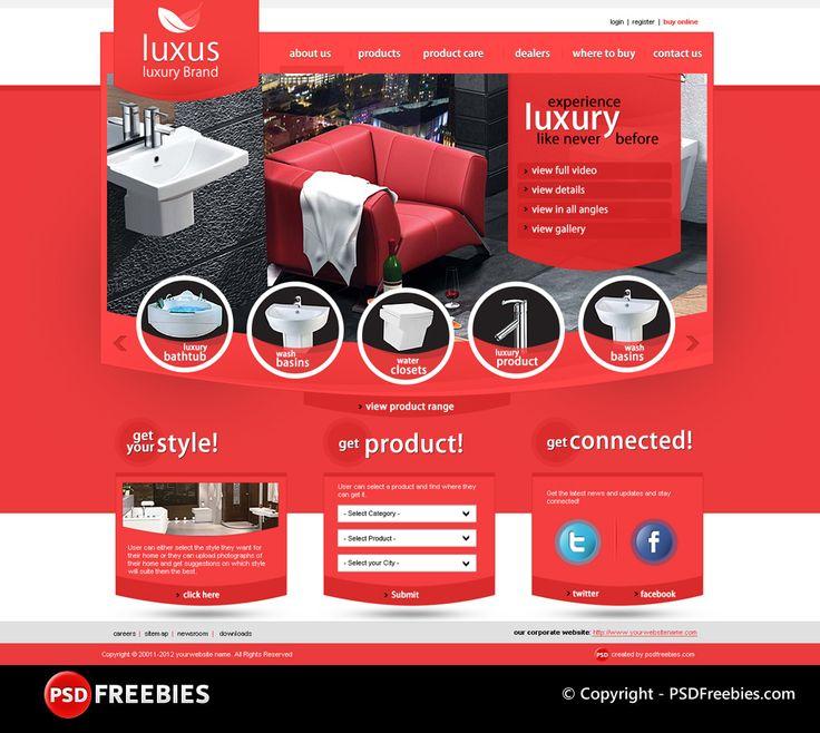 Luxus Luxury Brand Free PSD Template