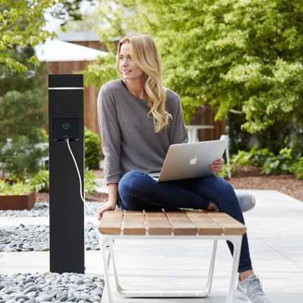 Charging Station With Accent Light Outdoors Pinterest Lighting Outdoor And Architecture