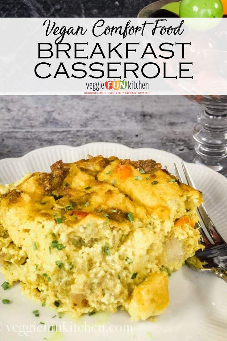 Vegan Classic Breakfast Casserole No Eggs Veggie Fun Kitchen Recipe In 2020 Breakfast Casserole Vegan Breakfast Casserole Vegan Breakfast Recipes