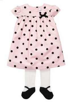 2-Piece Holiday Dress Set from Carter's.  An easy holiday outfit never looked so sweet. Cover her in sateen polka dots with this adorable dress set.   Get your rebate from RebateGiant.