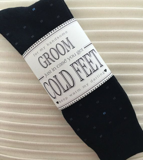 234 best cold feet socks images on pinterest cold feet groom fabulous grooms wedding gift from bride navy blue designer socks with label just in case you get cold feet optional i do stickers junglespirit Images