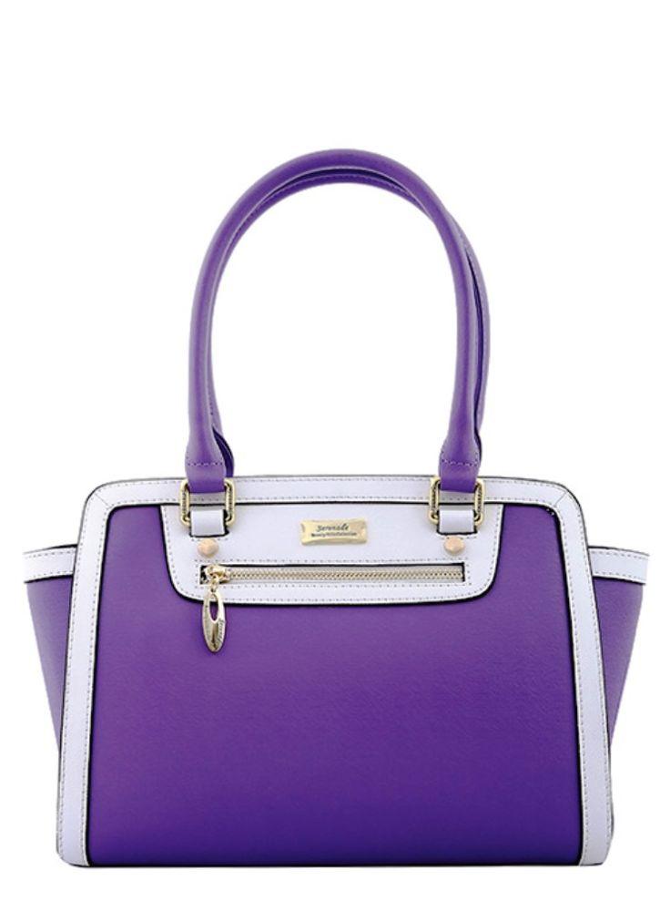 Serenade Summer Orchid Purple Matte Leather Shoulder Bag. SH59-7376.
