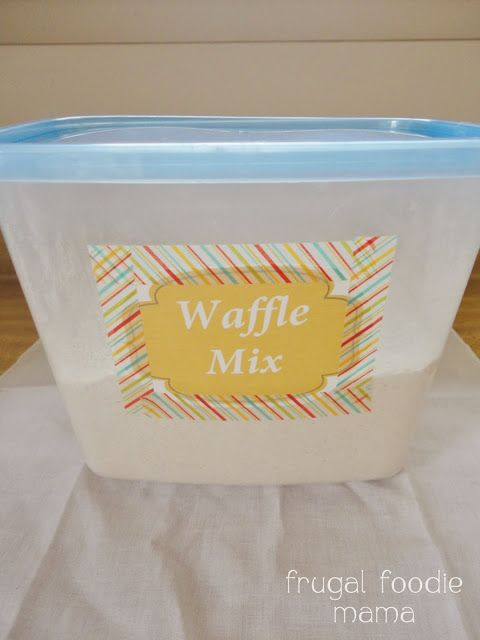 Homemade Belgian Waffle Mix- quick to make, budget friendly, & just as delicious as store bought!