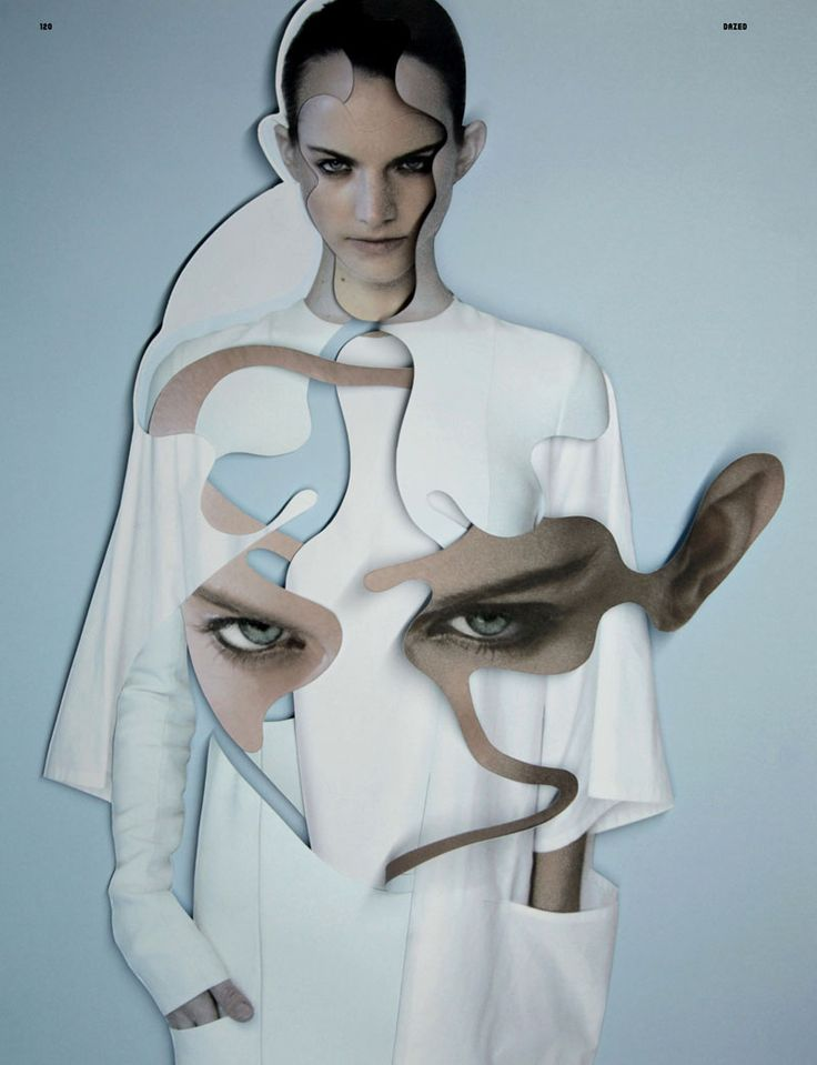 DAMIEN BLOTTIÈRE, DAZED & CONFUSED 1210 ISSUE CUT & PASTE: another from the calvin klein editorial.