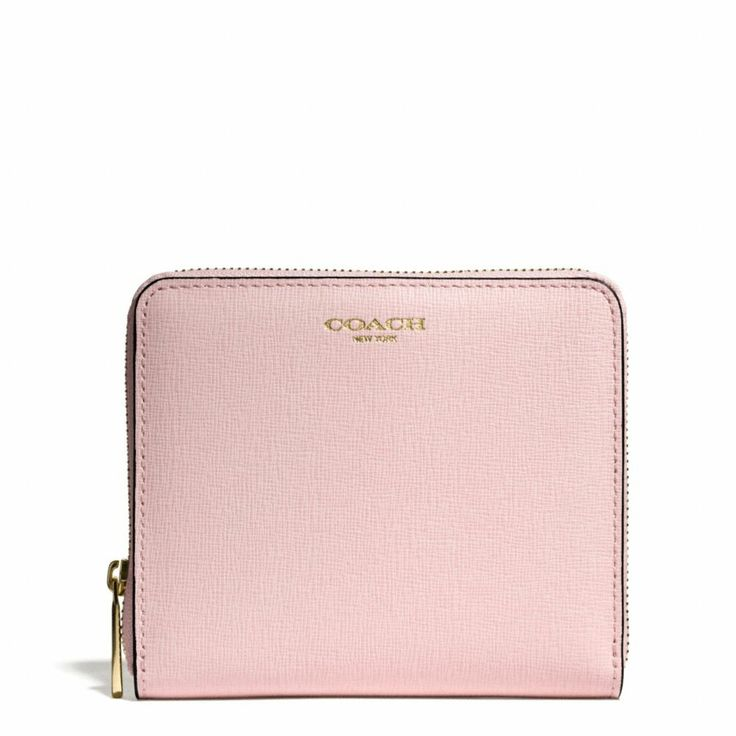 The Medium Continental Zip Wallet In Saffiano Leather from Coach - LOVE THIS PINK!!!!