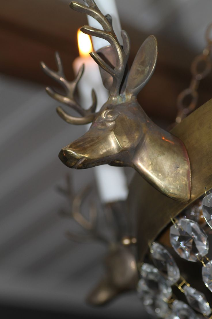Detail of our Lodge chandelier