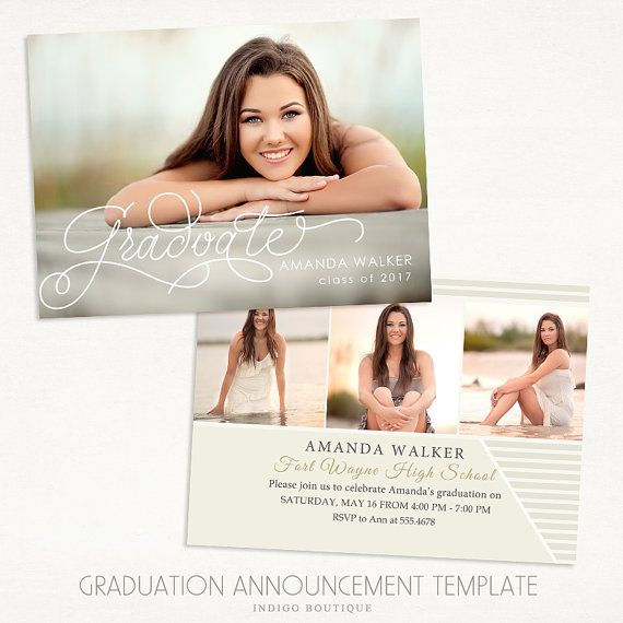 The 25 best graduation announcement template ideas on pinterest senior graduation announcement template for photographers 013 id227 instant pronofoot35fo Images