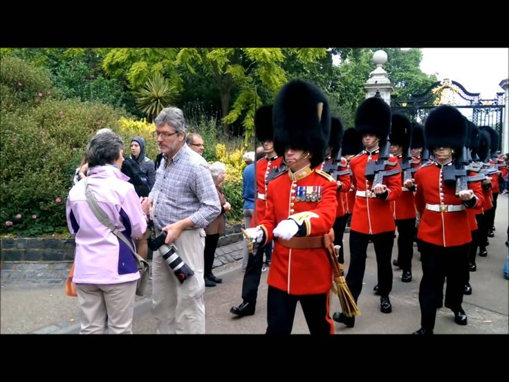 The Queen's Guard doesn't stop for tourists - 'Make Way'- stupid man, via YouTube.